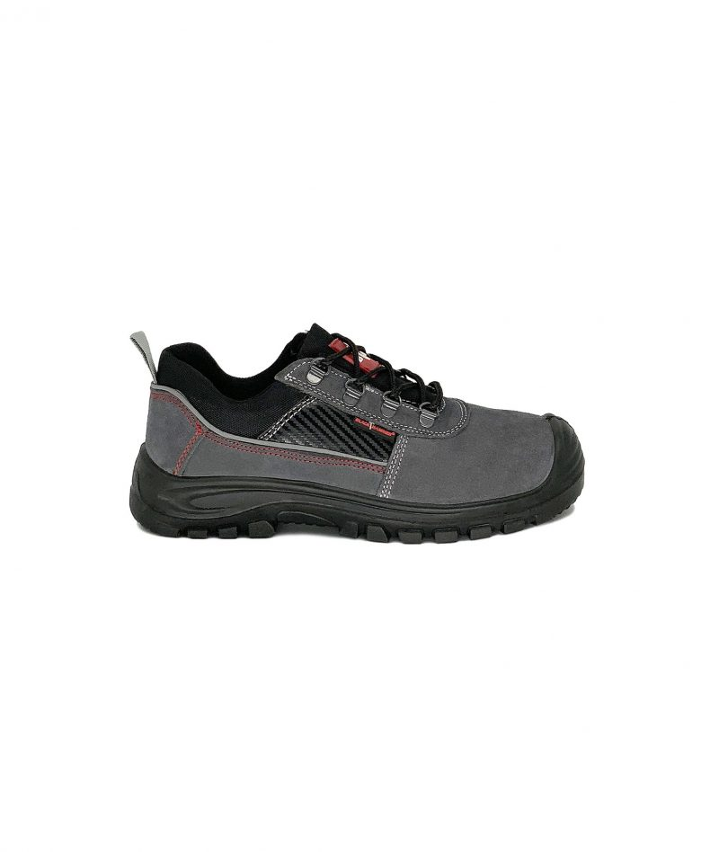 Black Hammer Low Cut Safety Shoes Grey BHS201608