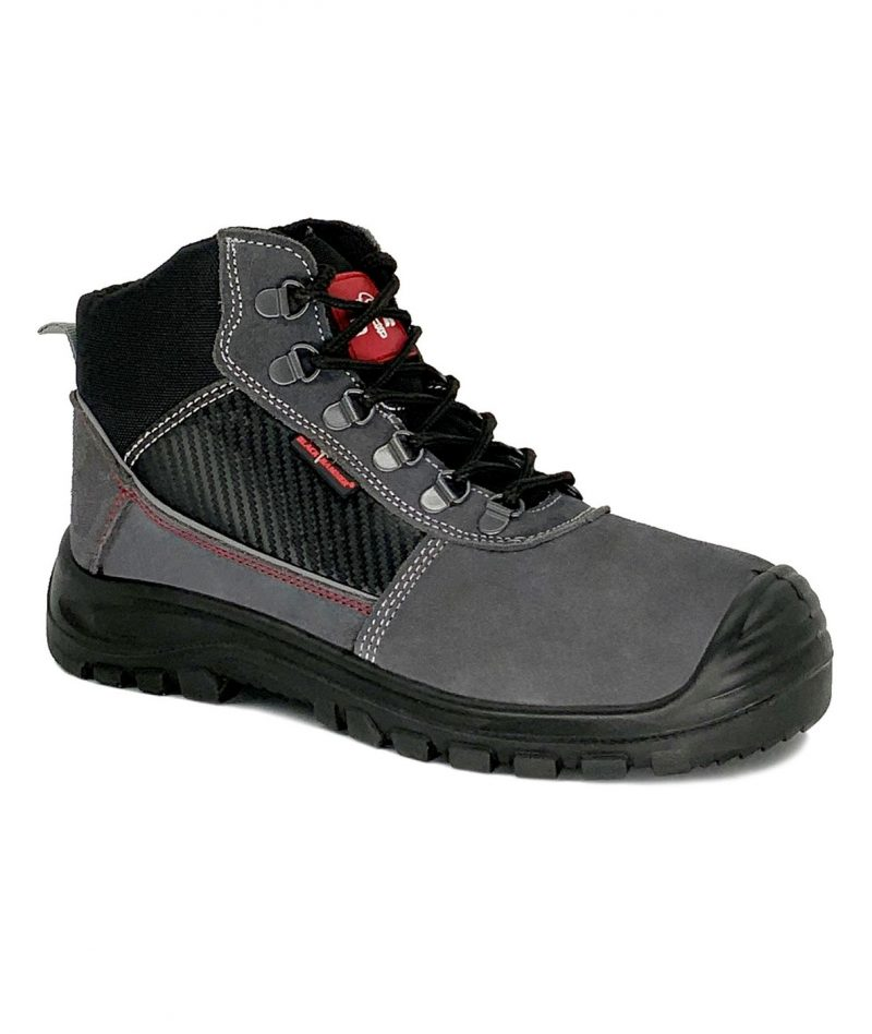 Black Hammer Mid Cut Safety Shoes Grey BHS201610