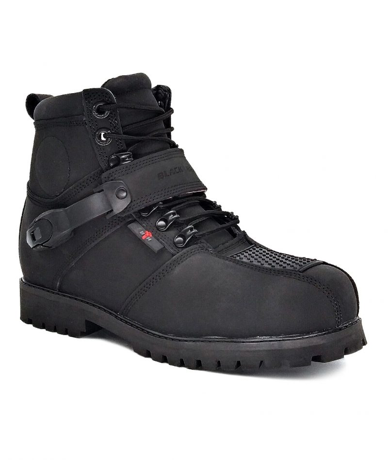 Black Hammer Motor Boot Mid Cut with Zip BHB-6004