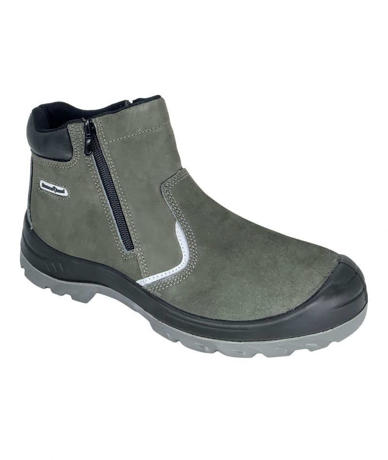 Hammerland Mid Cut with Double Zip Safety Shoes Grey HAM-2002RS