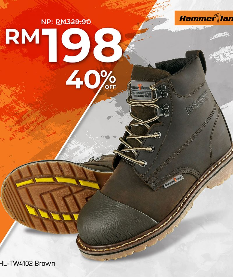 Hammerland Mid Cut with Shoelace and Zip Safety Shoes HL-TW4102