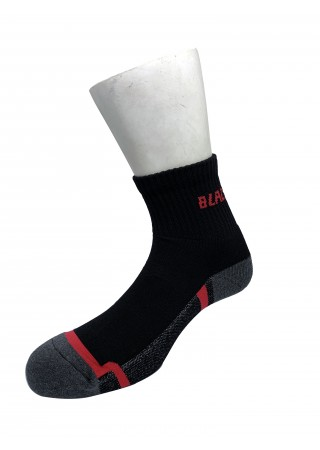 3 Pairs Black Hammer Half Terry Heavy Duty Socks ST00211