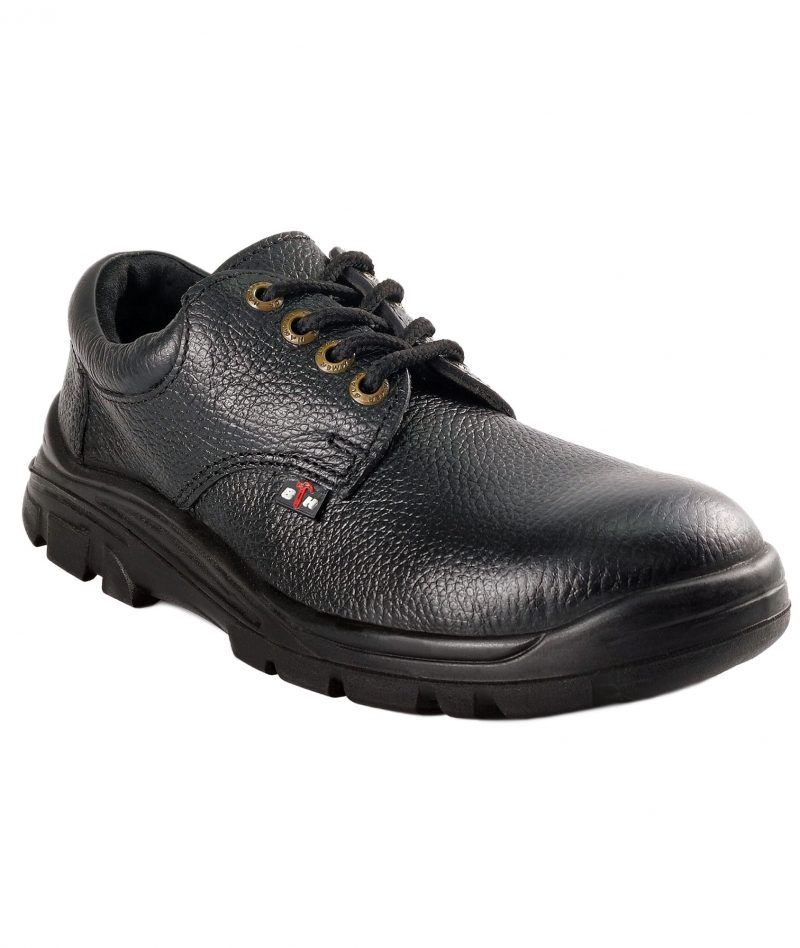 Black Hammer Low Cut with Shoelace Safety Shoe BH-1002-SR-BLK