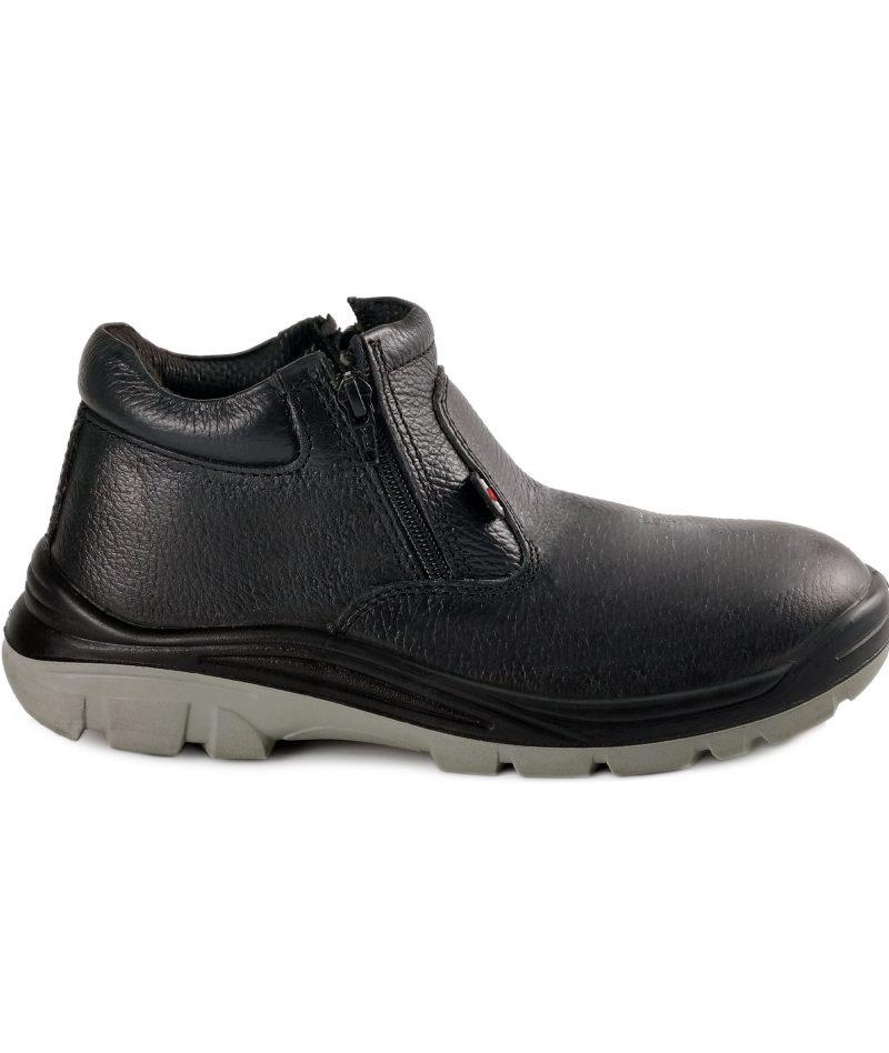 Black Hammer Mid Cut Safety Shoe BH-1003-SR-BLK