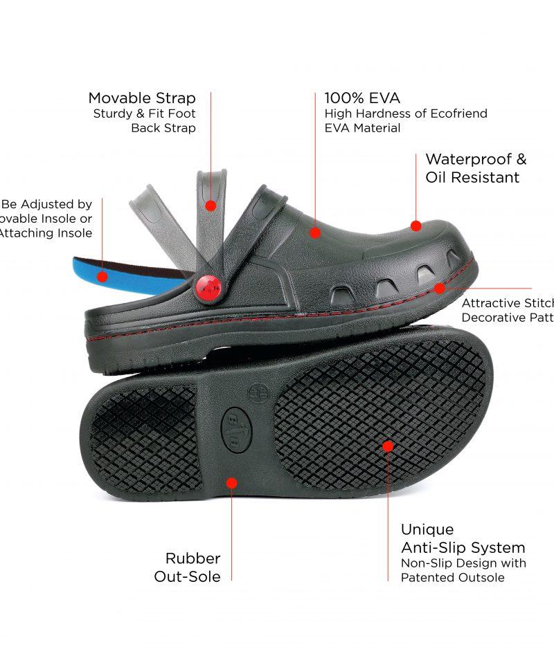 Black Hammer Safety Clogs BHC-S101