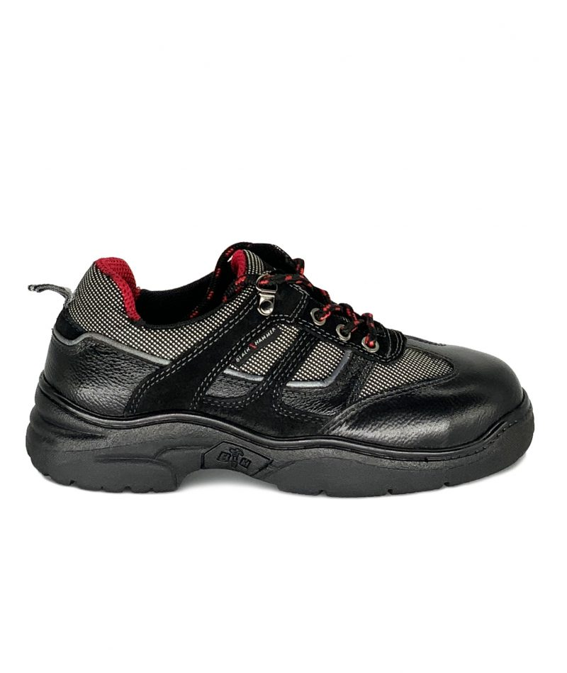 Black Hammer Ladies Low Cut Lace Up Safety Shoes BH3883