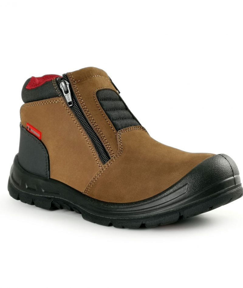 Black Hammer WATERPROOF Mid Cut with Double Zip Safety Shoe BHS201616
