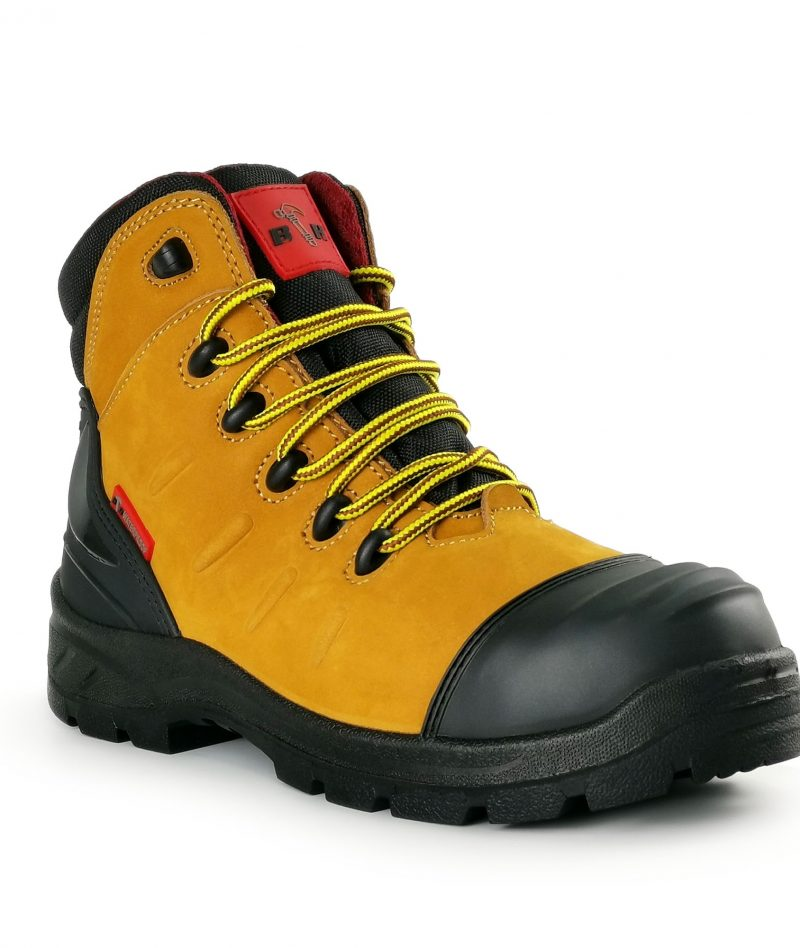 Black Hammer WATERPROOF Mid Cut with Shoelace Safety Shoe BHS201617