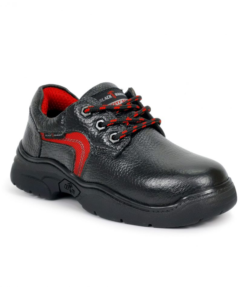 Black Hammer Ladies Low Cut Lace Up Safety Shoes BH3881