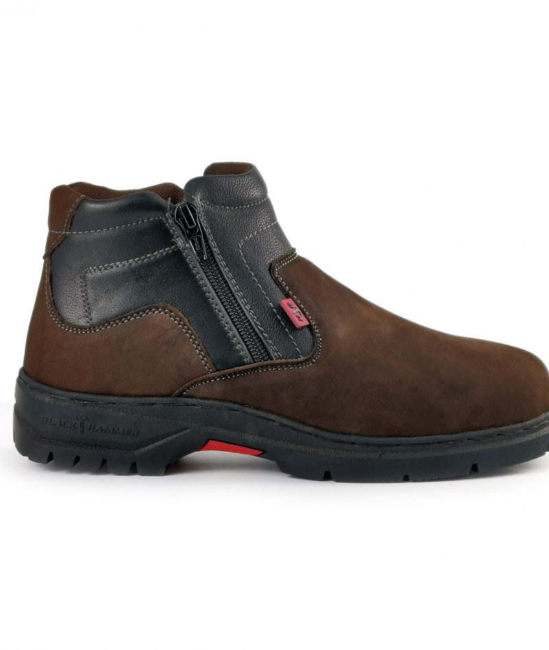 Black Hammer Ladies Mid Cut With Double Zip Safety Shoe BH3889