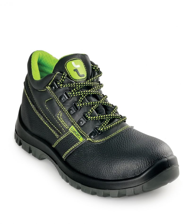 Toetect Men Mid Cut with Shoelace Safety Shoes TOE-SR1004